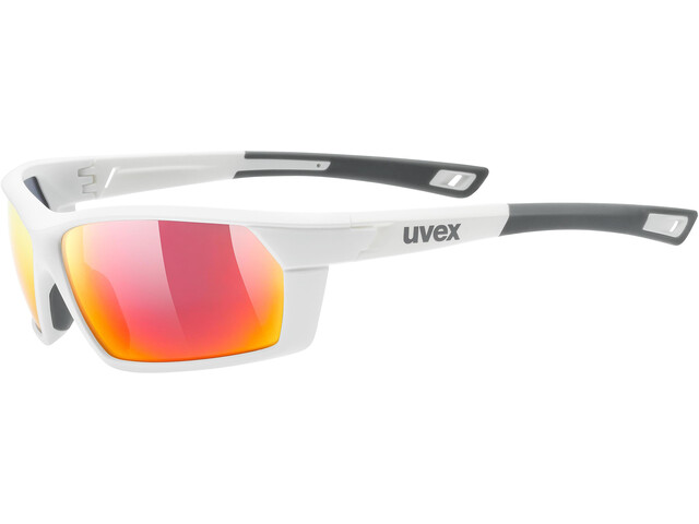 UVEX Sportstyle 225 Occhiali, white mat/mirror red
